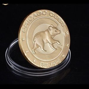 Accessories - New Chicago Cubs 24K gold plated coin